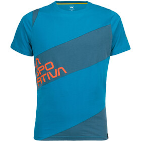 La Sportiva Slab T-shirt Herre tropic blue/lake